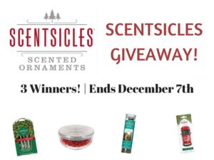 Enter for a chance to win in the Scentsicles Giveaway (ends 12/7)