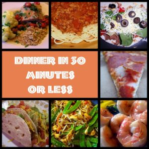 30 Minutes or less Minute Recipes