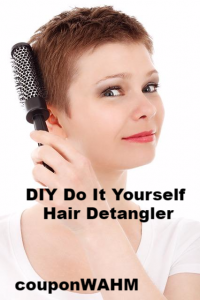 DIY Do It Yourself Hair Detangler