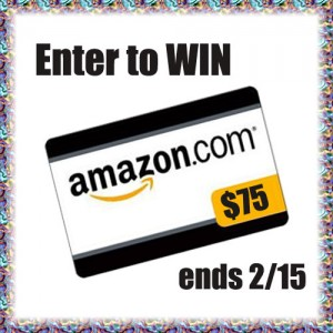 Enter to #win A $75.00 Amazon gift Card (ends 2/15)