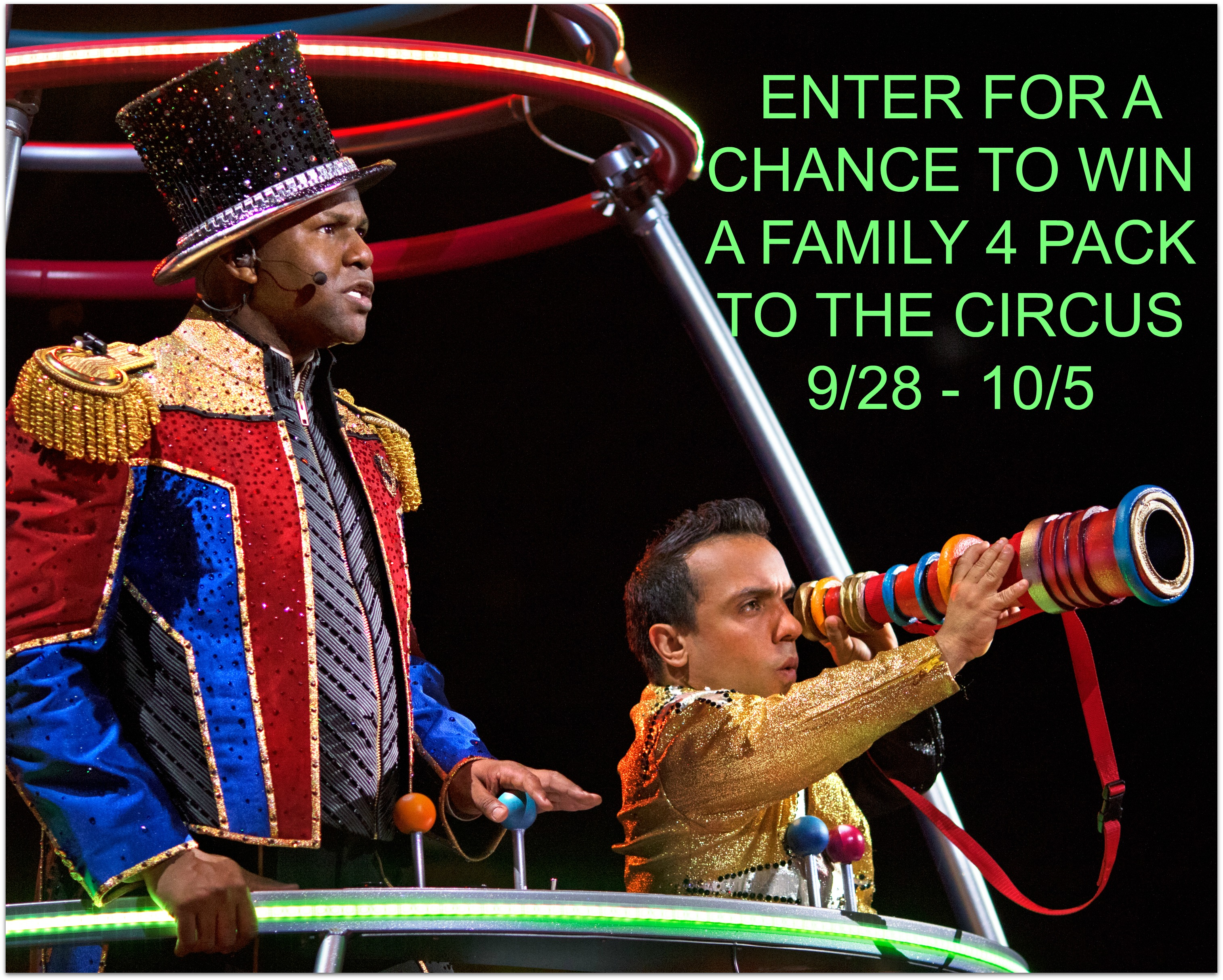Enter to win a family 4 pack of tickets to the  Ringling Bros. and Barnum and Bailey circus (ends 10/5/16) #giveaways