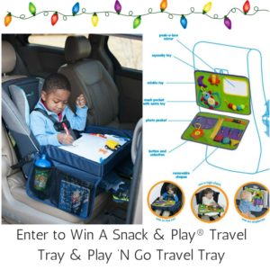 #2016HGG Enter to Win A @SnackandPlay Travel Tray 2.0 and Star Kids Play 'N Go Travel Tray #giveaways