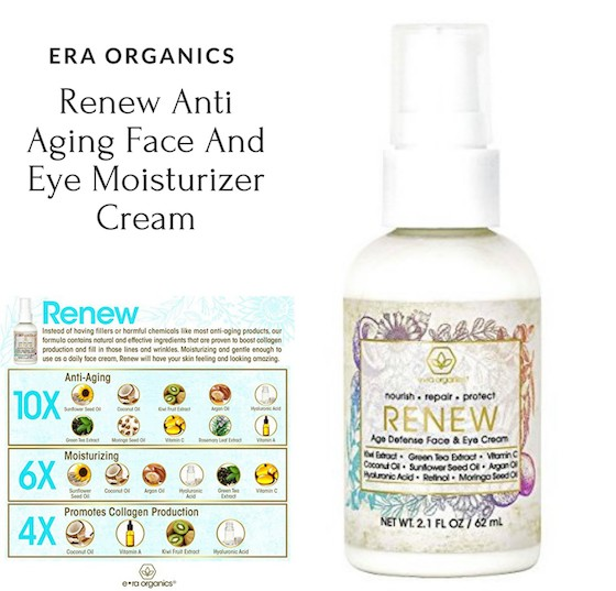 Enter for a chance to #win ERA Organics renewing face and eye cream and era Organics Vitamin C Face & Eye Cream (ends 12/7)  #Holiday2017
