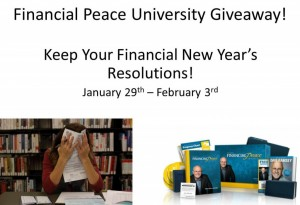Enter to #win in the Financial Peace University Giveaway (ends 2/3)