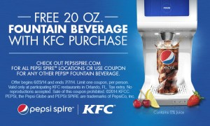 #free 20 oz. Fountain Beverage At KFC