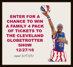 Enter for a chance to win a family 4 pack of tickets to the 12/27/16 #Globetrotters game #globies