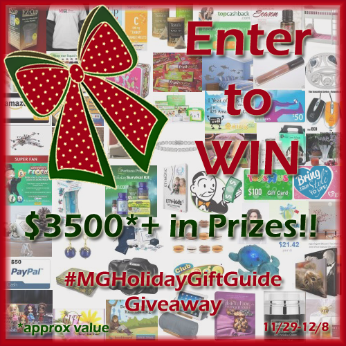 Enter to #win over $3,500.00 in Prizes in the #MGHolidayGiftGuide Giveaway (ends 12/8)