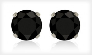 FREE BLACK CUBIC ZIRCONIA EARRINGS FROM GROUPON WITH FREE SHIPPING!