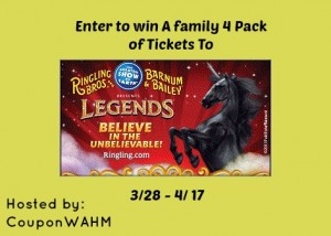 Enter to #win 4 pack tickets to the Ringling Bros. Youngstown (ends 4/17)