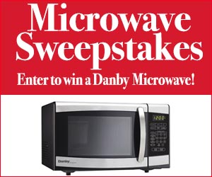 Enter for a chance to win a Danby Designer Microwave!