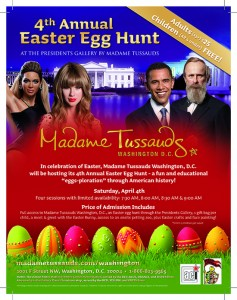 Kids go FREE at Madame Tussauds' 4th Annual Easter Egg Hunt