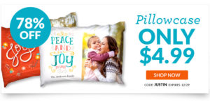 Personalized Pillowcase $9.98 Shipped