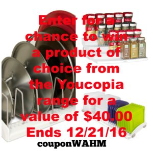 Enter for a chance to win a product of choice from the Youcopia range for a value of $40.00 (ends 12/21/16) #giveaways