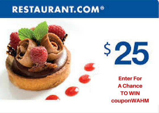 Enter to win A $25 Restaurant.com E-Gift Code (ends 1/31/17) #giveaways