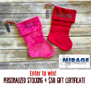 Enter to win a Personalized Stocking + $50 Gift Certificate for your pet #giveaways