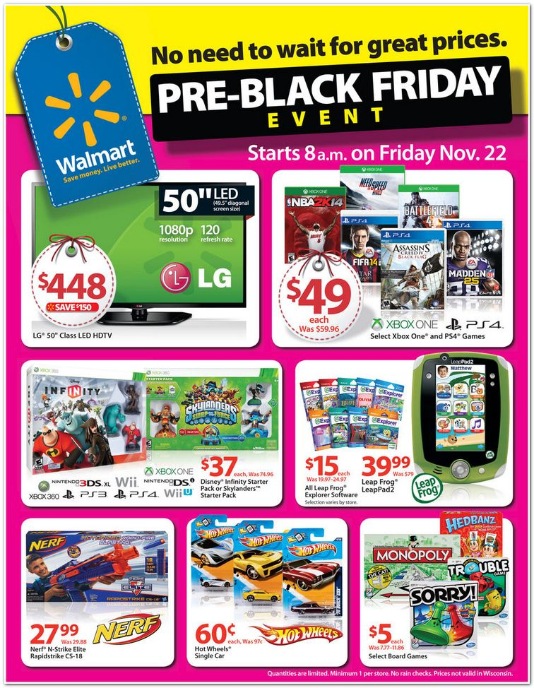 Walmart #BlackFriday Pre-Sale Kicks Off November 22!