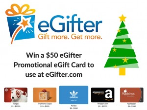 Win a $50 eGifter Promotional eGift Card to use at eGifter.com