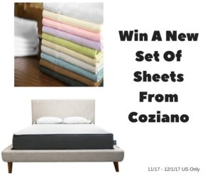Enter for a chance to #win a set of @CozianoMattress sheets (ends 12/1/17)