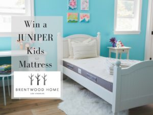 Enter for a chance to win a Juniper Kids Mattress#2016HGG  @brentwoodhomeLA (ends ends 11/22) #giveaways