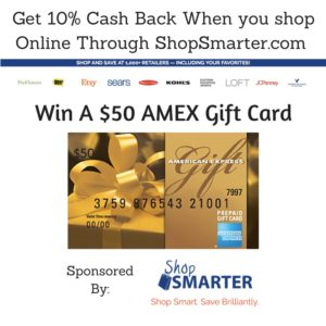 #ShopSmarter Enter for a chance to win a $50 AMEX gift card from ShopSmarter.com