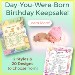 Birthday Keepsakes offers personalized gifts to remember