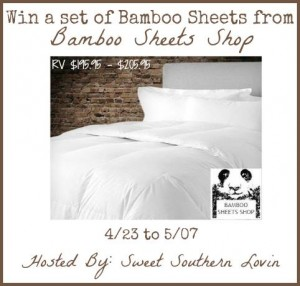bamboo sheet set giveaway