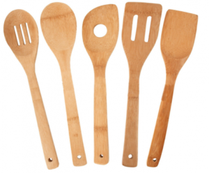 5 Piece Bamboo Utensil Set only $5.88!