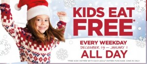 #kids Eat #free At Bob Evan's (ends 1/1/14)