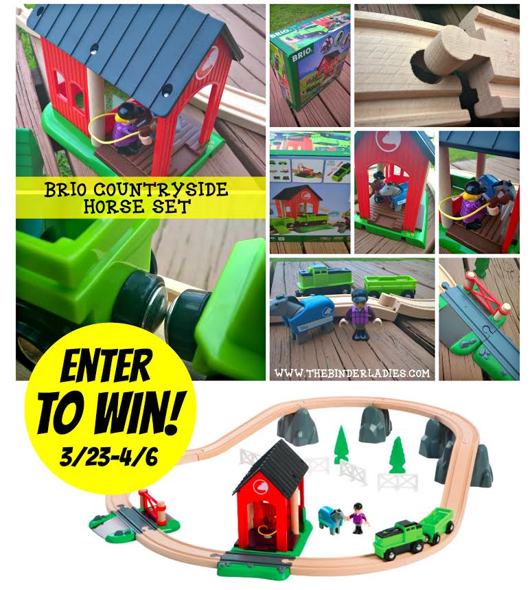 Enter to win a BRIO Countryside Horse Set! (ends 4/6) #giveaways