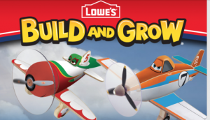 Lowe's August Build and Grow Kid's Clinic: FREE Disney Planes