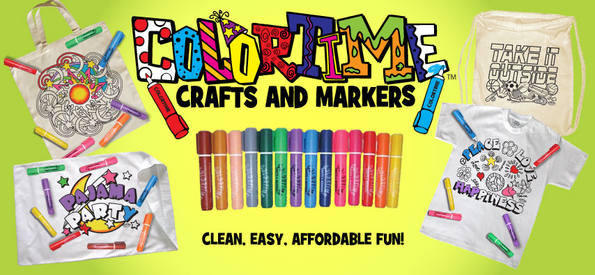 Colortime Crafts and Markers Offers Kids All Day Fun
