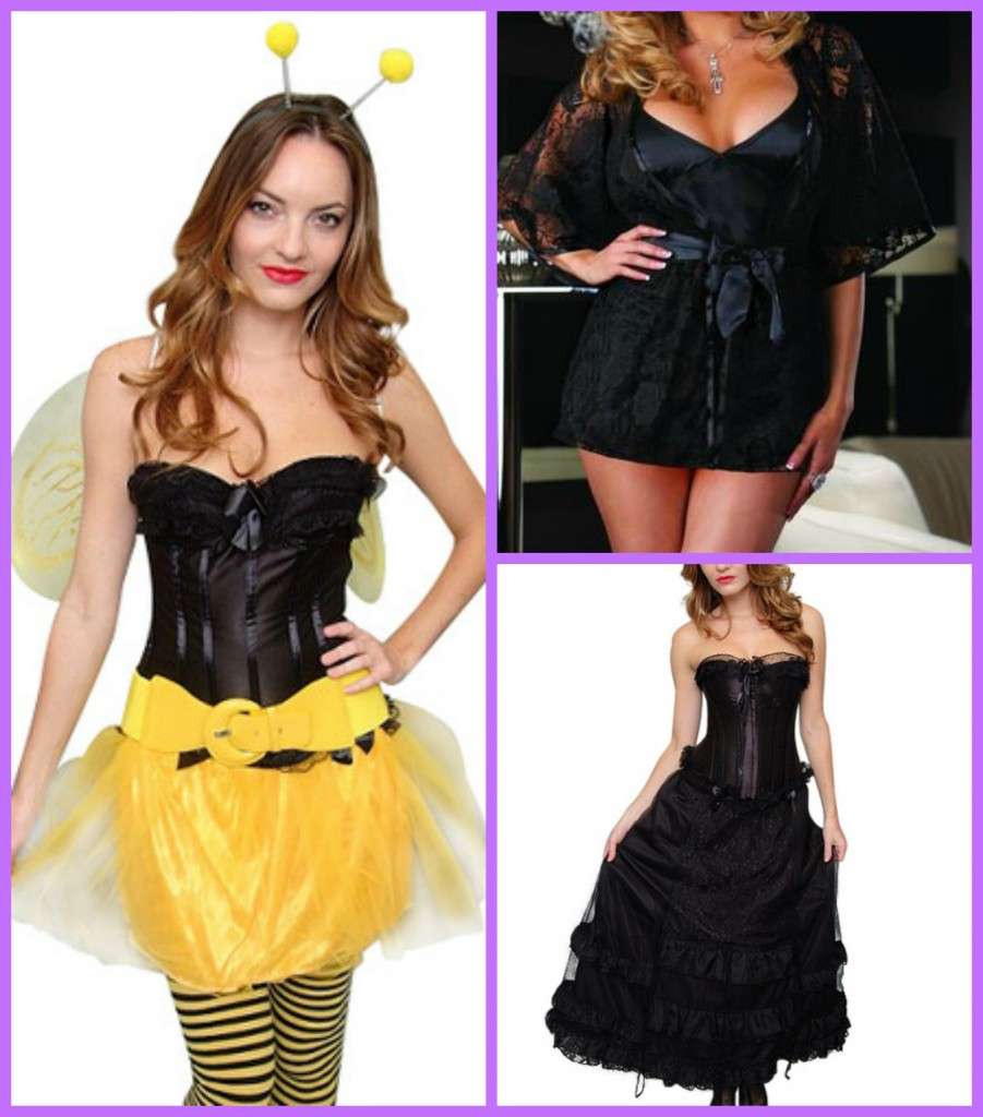 corset chick collage