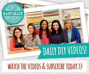 Subscribe To The HGTV Handmade on YouTube Channel