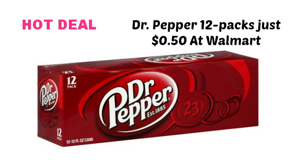 Dr. Pepper 12 packs for only $0.50 at Most Walmarts (ends 7/31/14)