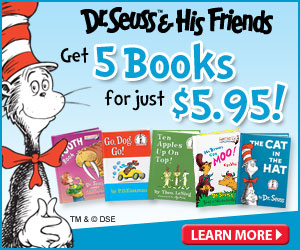 6 Dr. Seuess Books for $5.95 with Free Shipping