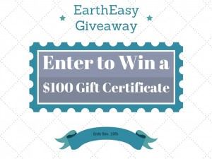 Enter to #win A $100 Gift Certificate to EarthEasy #giveaways