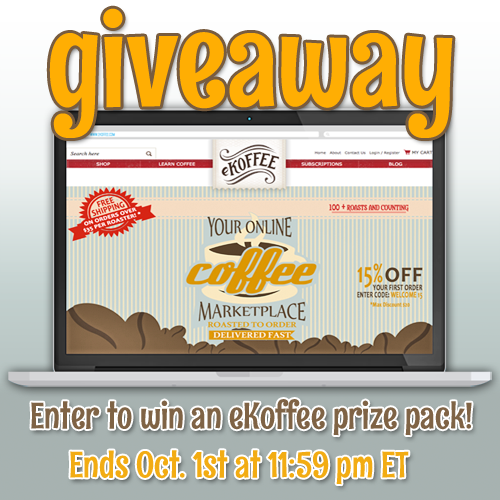 Enter to #win A eKoffee Prize Pack (ends 10/1) #giveaways