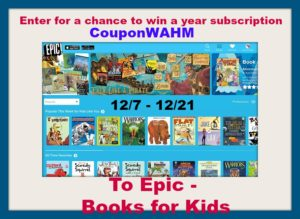 Enter For A Chance to Win A YEAR subscription to Epic Digitals Books for Kids  #giveaway