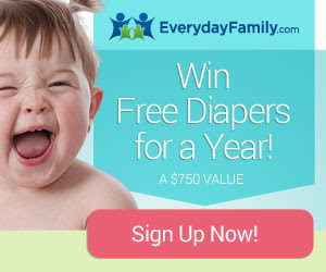 Enter to Win Free Diapers for a Year from EverydayFamily.com!