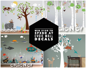 Enter to win $150 to spend @evgie #walldecals #giveaways