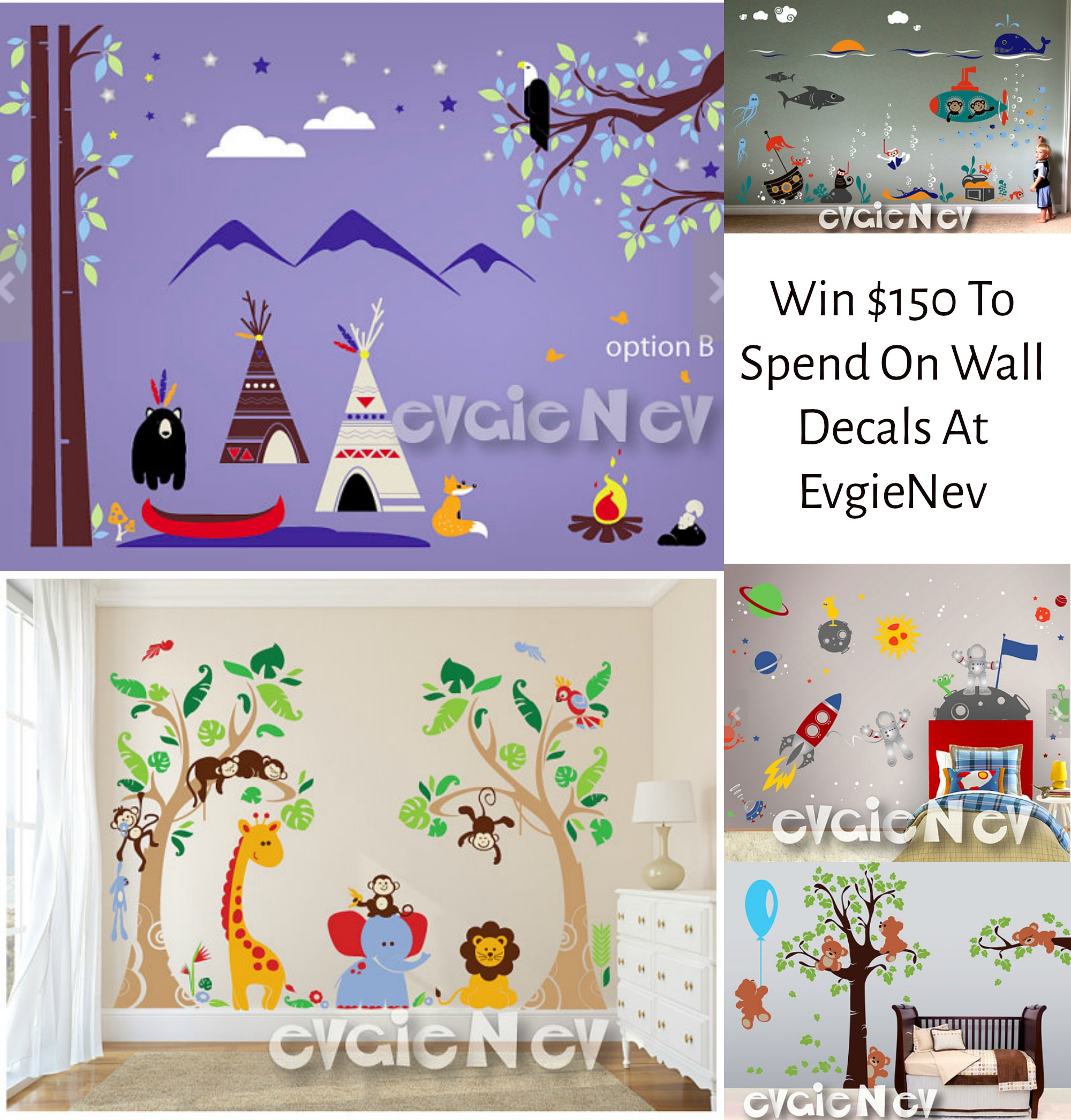 Enter to win $150 to spend on wall decals from Evgie (Ends 1/10 )#giveaways @evgie #walldecals