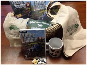 Enter to win a copy of Farming Simulator 15, cow USB, cow mug, and gardening gloves (ends 12/5) #giveaways