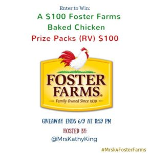 Enter to win $100 in Foster Farms Baked Chicken Coupons #giveaways (ends 6/9)