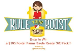 Enter for a chance to #win a $100 Foster Farms Saute Ready Gift Pack #Mrskking