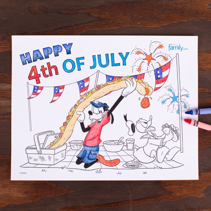 Free 4th Of July Kids Coloring Sheets