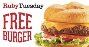 #free Burger or Garden Bar Entree at Ruby Tuesday On Your Birthday