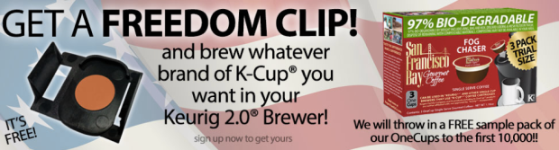 #free Freedom Clip for Keurig 2.0 Brewers & More