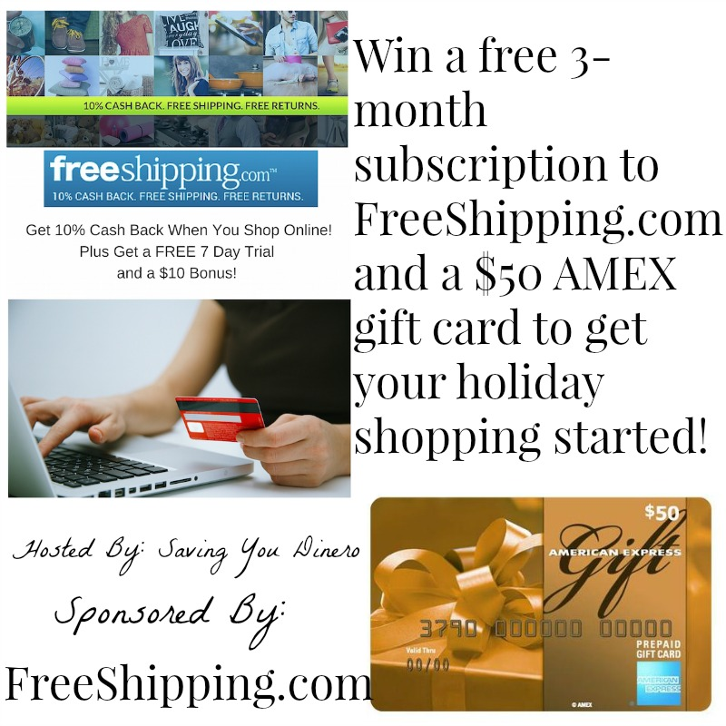 Enter to win a 3-month @FreeShippingcom subscription & a $50 AMEX gift card! #LoveFreeShipping #contest