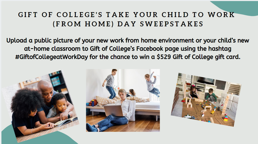 Enter to #win Take Your Child to Work (From Home) Day Facebook Photo Sweepstakes