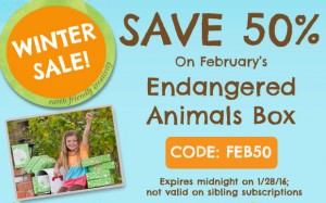 Save 50% OFF GREEN KID'S ENDANGERED ANIMALS DISCOVERY BOX!